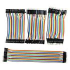 120Pcs Color Ribbon Line Breadboard Dupont Cable Jump Jumper Wire 30cm/10cm New