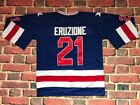 Mike Eruzione 21 1980 Miracle On Ice Hockey USA Movie Jersey Blue