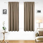 2 Panels Sets Blackout Curtains Thermal Insulated Darkening Drapes 42 x 63 84 95
