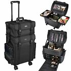 Byootique Classic Black Rolling 2in1 Cosmetic Case Soft Sided Makeup Artist