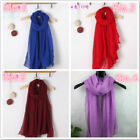 Hot Lady Women Girl Autumn Winter Solid Long Scarves Cotton Scarf Wraps Shawl