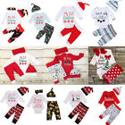 US Baby Boys Girls Tops T-shirt Pants Leggings  Outfits Set Clothes Christmas