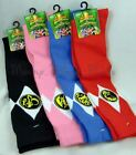 Disney Power Rangers Mighty Morphin Knee High Socks 20th Anniversary Pink / Blue