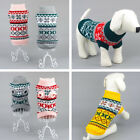 2017 Pet Dog Puppy Jumper Sweater Knitwear Coat Winter Apparel Costume Clothing