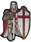 Embroidered White and Red Crusader Knight Large Christian Back PATCH