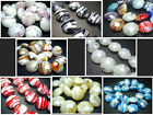 20MM Handwork Lampwork Glass stripe Oblate Spacer Beads Jewelry 20PCS