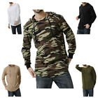 New Men Casual Autumn Long Sleeve Hooded Camouflage T-shirt Hoodie Tops M-3XL