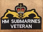 HM SUBMARINERS VETERAN Large Embroidered Biker Patch