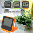 LCD Digital Date Calendar Timer Foldable Desk Travel Alarm Clock W/ Thermometer