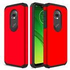 For Motorola Moto E4 E5 G6 Play/Plus Case Shockproof Armor Hybrid Rubber Cover