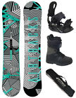 AIRTRACKS Snowboard Set Stripes Rocker+Bindung Star+Boots+Sb Bag/150 155 160 165