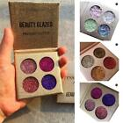 4 Colors Rainbow Diamond Pigment Pressed Powder Glitter Makeup Eyeshadow Hot ED
