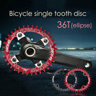 Bicycle Mountain Bike Single Tooth Speed Chainring Sprockets 36T Oval 104mm