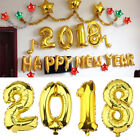 2018 Gold new year number Foil Balloons father Christmas X-mas party decorations