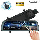 10'' Car DVR Dual Lens HD 1080P Dash Cam Rear view Mirror Recorder Free Camera