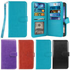 For Samsung Galaxy S6 Active G890 Leather 9 Card Slot Wallet Cover Case W/ Strap