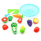 3D Play Toys Children Kid Pretend Cutting Fruit Vegetable Kitchen Toys Plastic
