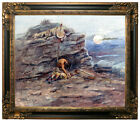 Russell Mourning Her Warrior Dead 1899 Framed Canvas Print Repro 20x24