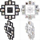 Family Picture Photo Frame Holds 12 Photos Aperture Wall Clock Collage Xmas Gift