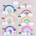 Внешний вид - 10pcs Mixed Polymer Clay Cabochon Flatback Rainbow Cartoon DIY Craft Decoration