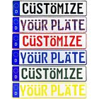 Custom European German License Plate - Customize Your Plate