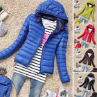 New Women Soft Thicken Jacket Coat Bubble Quilted Padded Hooded Overcoat Outwear