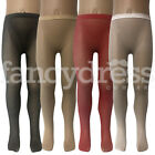 Girls Fishnet Dance Ballet Seamless Tights Halloween Red Black Nude White NEW