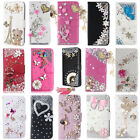 Magnetic Bling Crystal Leather wallet flip Cover Case for iPhone X/ 8p / 7p /5c
