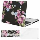 Mosiso 3in1 Laptop Floral Shell Case for Macbook Pro 13 Retina A1502   2012-2017