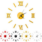 DIY Acrylic Wall Clock 3D Roman Mirror Stickers Home Decoration Modern Design