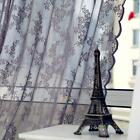 Voile Tulle Door Window Curtain Leaf Sheer Drape Panel Divider Scarf Valance