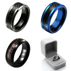 Mens Womens Couple Tungsten Carbide Ring Facet Cut Wedding Band Anniversary Gift