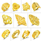 10 styles Women Fashion Desingner 24K Gold Plated Adjustable Ring Jewelry Gift