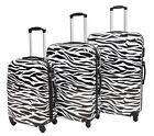 Hard Shell 4 Wheel Spinner Suitcase Travel Luggage Lightweight Zebra Print