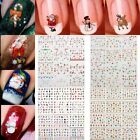 New 12Sheet Christmas 3D Nail Art Stickers Snowflakes Snowmen Decals Decor