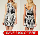 New KAREN MILLEN Cotton BNWT £160 Ikat Print Cocktail Evening Party Dress SALE