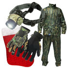 NGT Camo Christmas Carp Fishing Set with Rainsuit + Gloves and 19 LED Head Light