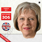 THERESA MAY PRIME MINISTER CARD FACE MASK MASKS FOR PARTY Tory Fancy Dress