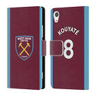 WEST HAM UNITED FC 2017/18 HOME KIT 2 LEATHER BOOK WALLET CASE FOR SONY PHONES 1