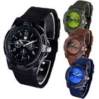 Classic Design Quartz Men Wrist Watch Black Nylon Band Swiss Army WristWatch image