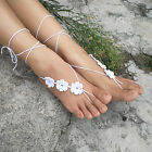 Crochet Barefoot Sandals Anklet Nude shoes Beach wedding shoes Yoga Foot jewelry