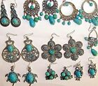 TURQUOISE DANGLE EARRINGS HUGE SELECTION OF STYLE BOHO HIPPY FAST UK DELIVERY