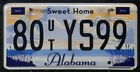 Alabama License Plate - Sweet Home Alabama - Pick Your Plate