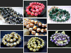 """12MM Pink, Black, Brown Mother Of Pearl Shell Round Loose Beads Jewelry 15.5"""""""