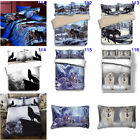 Wolf Double Queen King Size Duvet Doona Quilt Cover Set Animal Bed Pillowcases