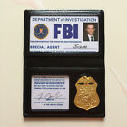 Reproductions - US Movie Halloween FBI Badge Holder Costume With ID Card Metal Badge Blank Card