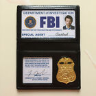 US Movie halloween FBI Badge Holder Costume with ID Card Metal Badge Blank Card