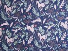Pink Unicorns on Navy 100% cotton fabric. 'Magic' from Michael Miller