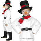 KIDS CHILDS SNOWMAN COSTUME CHRISTMAS FANCY DRESS FROSTY XMAS BOYS GIRLS OUTFIT