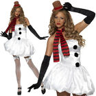 FEVER SEXY MISS SNOWMAN COSTUME LADIES CHRISTMAS PARTY FANCY DRESS WOMENS ADULT